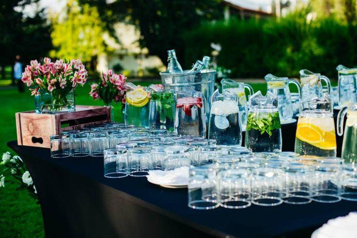 Aguas con sabor, decoración, ceremonia, coctel