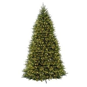 National Tree Company 12 ft. Pre-Lit Dunhill Fir Hinged Artificial Christmas Tree with Clear Lights DUH-120LO-S at The Home Depot - Mobile