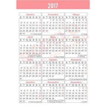 Resultado de imagem para calendario 2017 brasileiro colorido