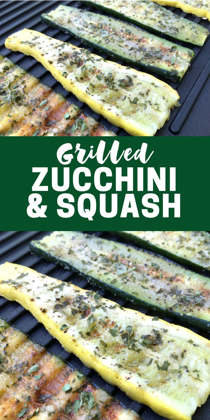 Grilled Zucchini & Squash is a healthy flavorful side dish that's ready in minutes!