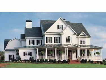 "What southern girl doesn't go ""oooooooh"" at a big white farmhouse like that?Farms House, Floors Plans, Future House, Country Farm, Dreams House, Gourmet Kitchens, Farmhouse, Farm Houses, House Plans"