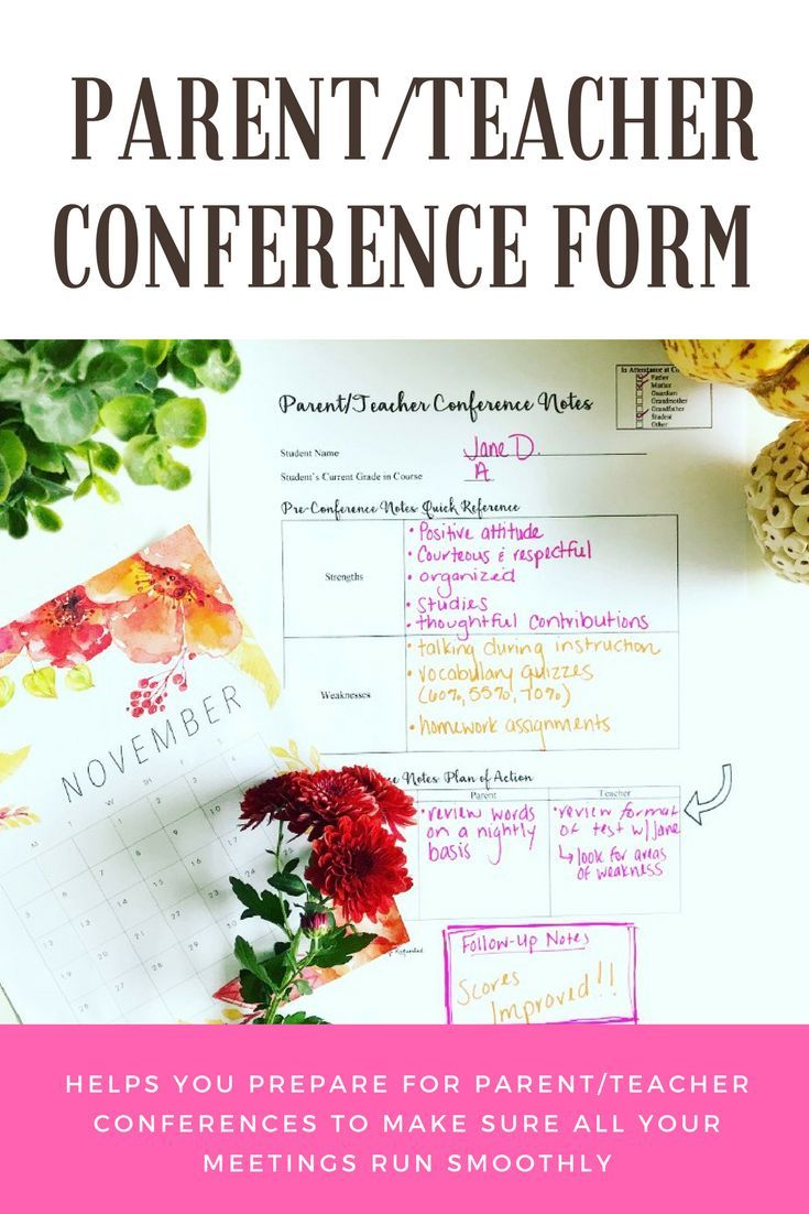 Help yourself prepare for parent/teacher conferences with this simple and easy-to-use notes sheet!   This download includes a version for you to write down your notes as well as a slightly adjusted version that can be given to the parent.   Happy conferencing!