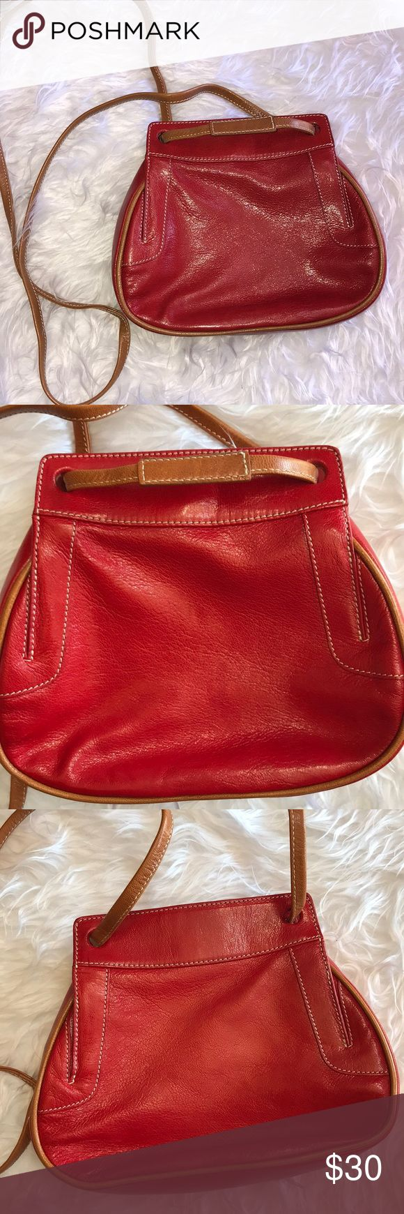 TUSK Red Crossbody Bag In excellent preowned condition TUSK Bags Crossbody Bags