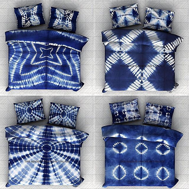 PURE COTTON AFRICAN INDIGO SHIBORI BEDCOVERS COLLECTION | JOELLESTORE