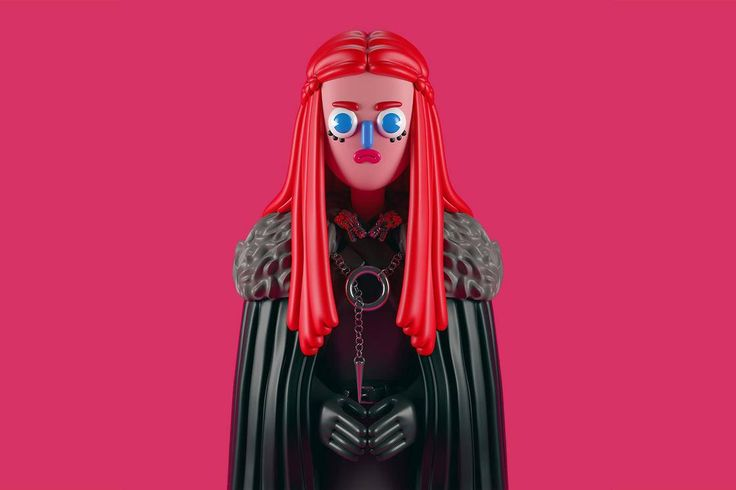 Game of Thrones Eye-Catching Pop Art 3D Characters by El Grand Chamaco, https://dezvox.com/game-of-thrones-pop-art-3d-characters-el-grand-chamaco/