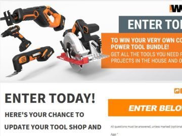 * Ends 3/31/18 - Enter for a chance to win the WORX Power Tool Sweepstakes