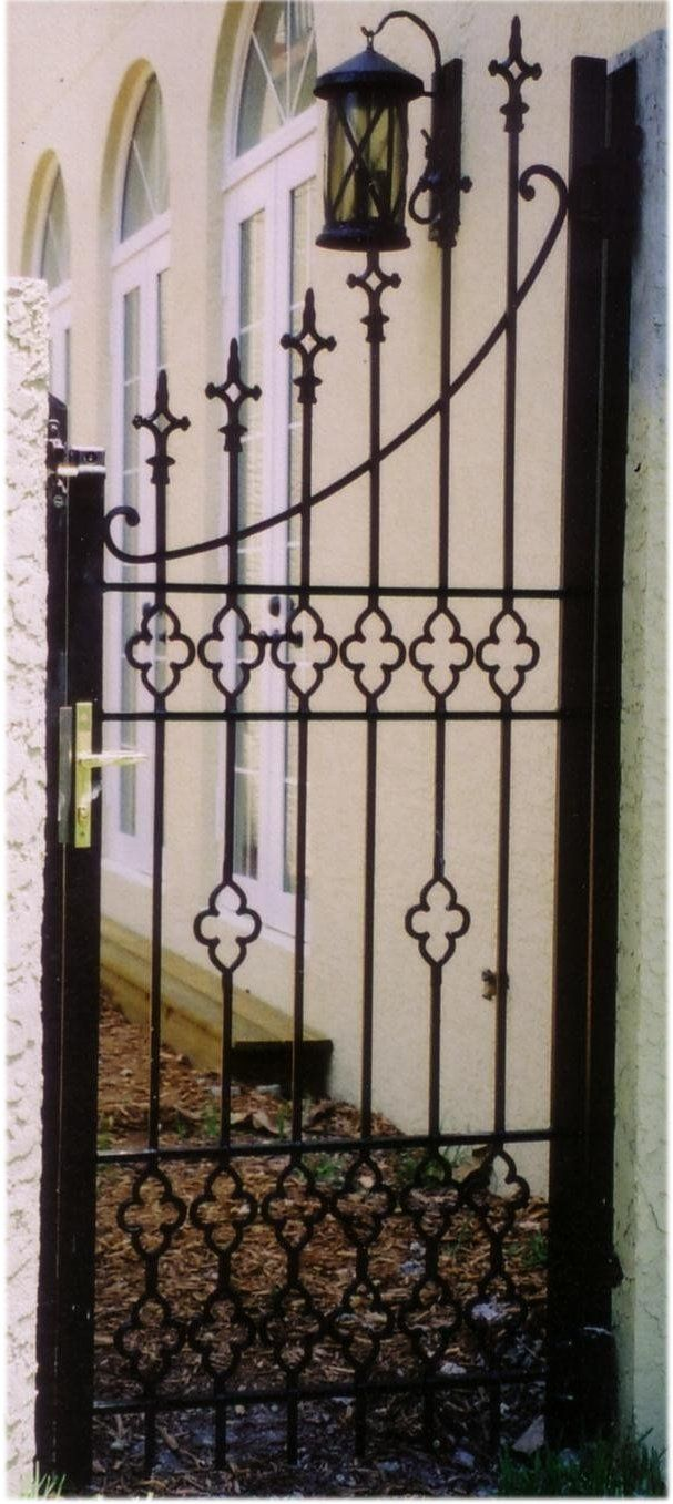 Hand Forged Wrought Iron Entry Gates Offer Beauty and Security