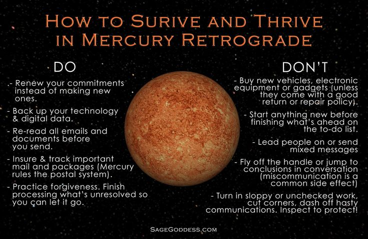 Proceed with caution! One must look back, before moving forward during the Mercury Retrograde