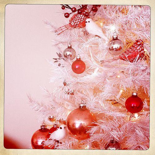 christmas tree: White Christmas Trees, Holidays, Trees Awesome, Christmas Trees Pank, White Trees, Guys Christmas, Pink Christmas Tree, Thankschristma Trees, Fashion Trees