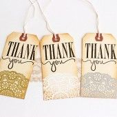 Doily Thank You Tags