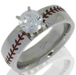 Womans Baseball Engagement Ring Baseball Engagement Ring Sports Wedding Rings Titanium Buzz Com Emerald Engagement Ring Sports Wedding Ring Baseball Ring