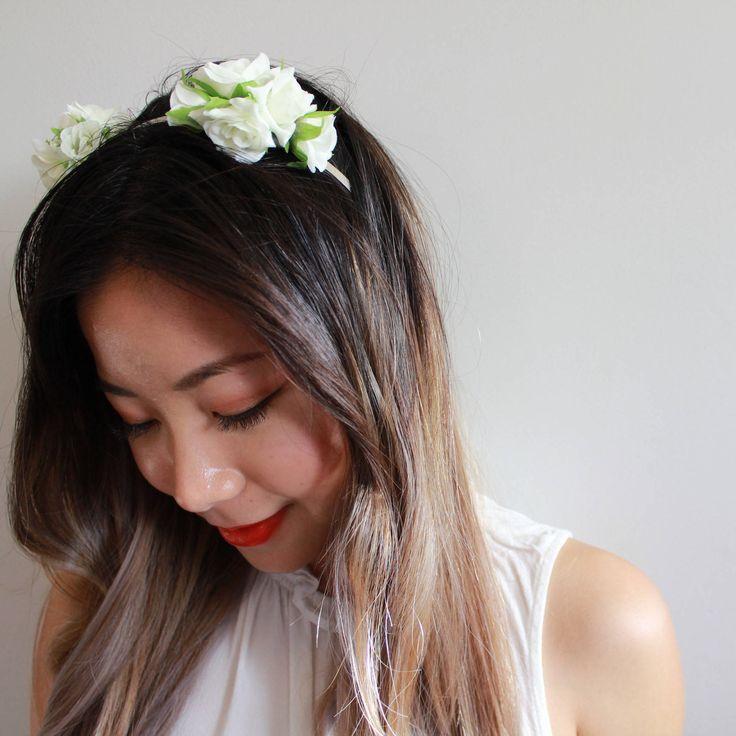 The Lissa Flower Headband//hens night accessory//silk flower crown//facinator//headpiece//classy hens night//hens crowns//flower crown by AggieandLola on Etsy