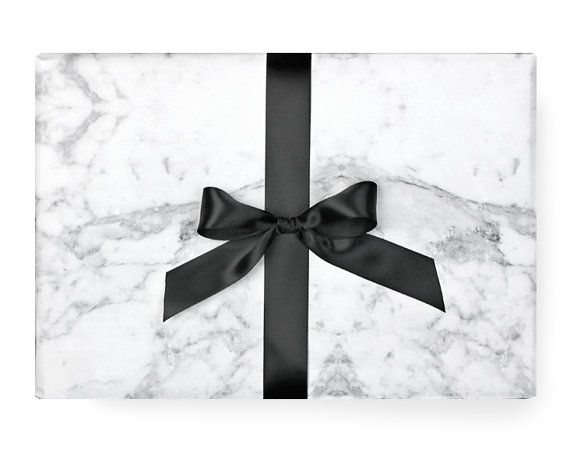 Wrapping Paper  bianco e nero moderno Chic di PaperboyParty