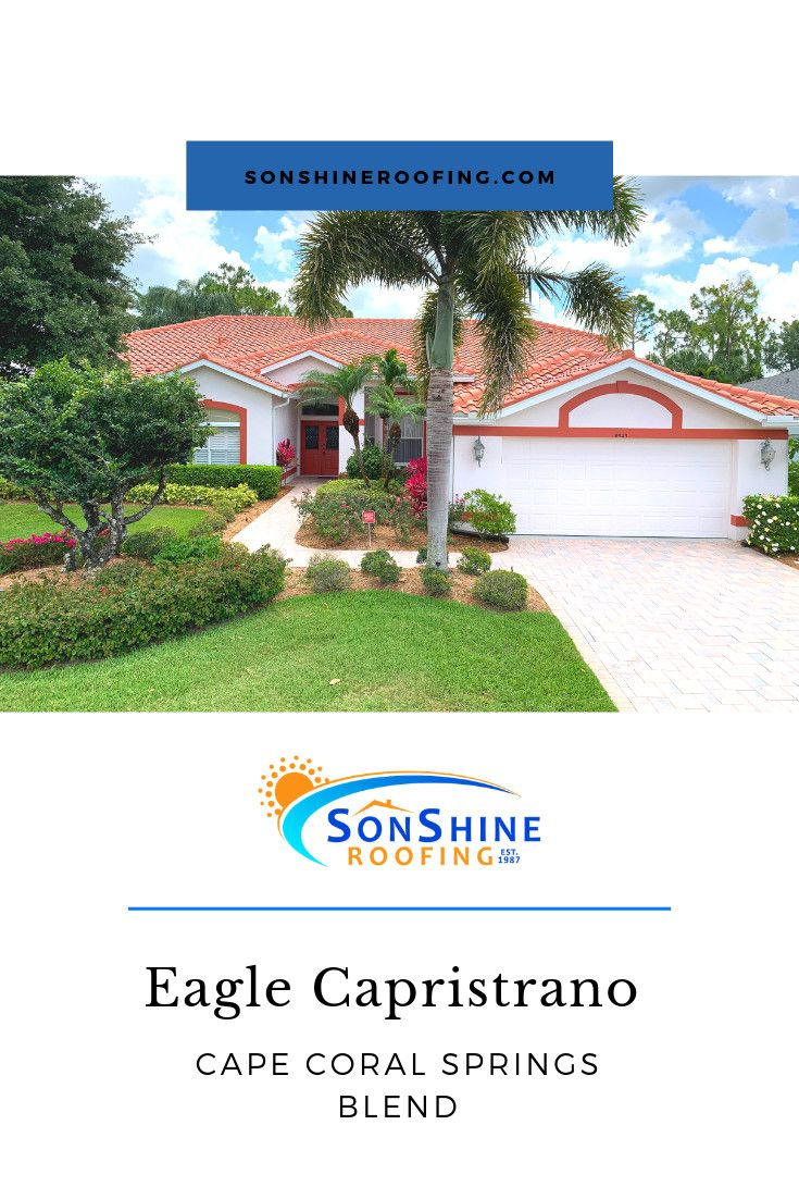 Project Spotlight Another Beautiful Tile Roof Done In Sarasota This Is A Eagle Capistrano Cape Coral Springs Blend Sonsh Roofing Companies Roofing Sarasota