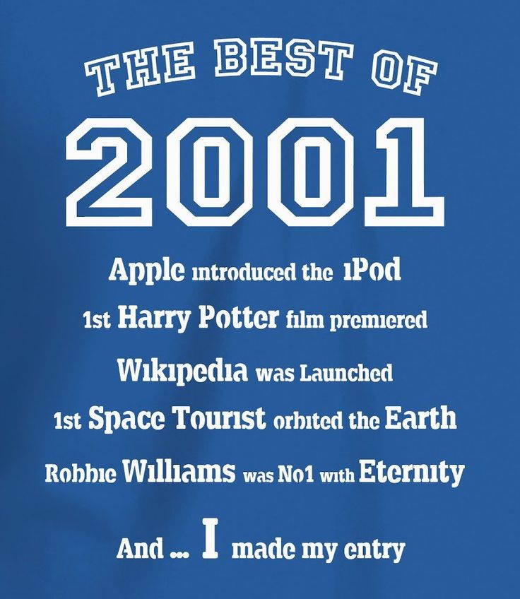 The Best of 2001 - 16th Birthday T Shirt for Boys