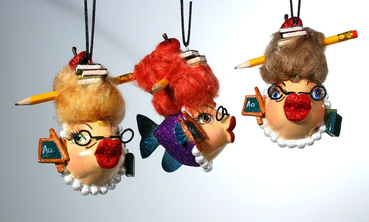 "Katherine's Collection Kissing Fish Collection Six Assort 5"" School Teacher Kissing Fish Ornaments Free Ship"