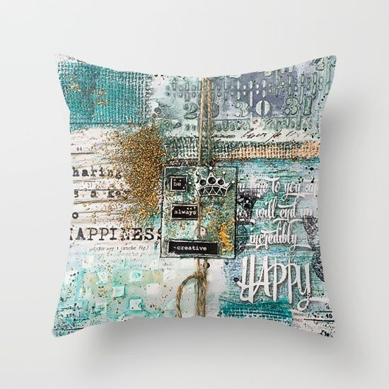 Buy be always creative Throw Pillow by nicolettazanella. Worldwide shipping available at Society6.com. Just one of millions of high quality products available.