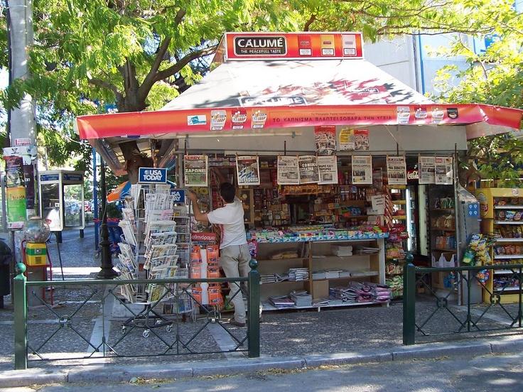 Newwstand in Greece (Periptero)