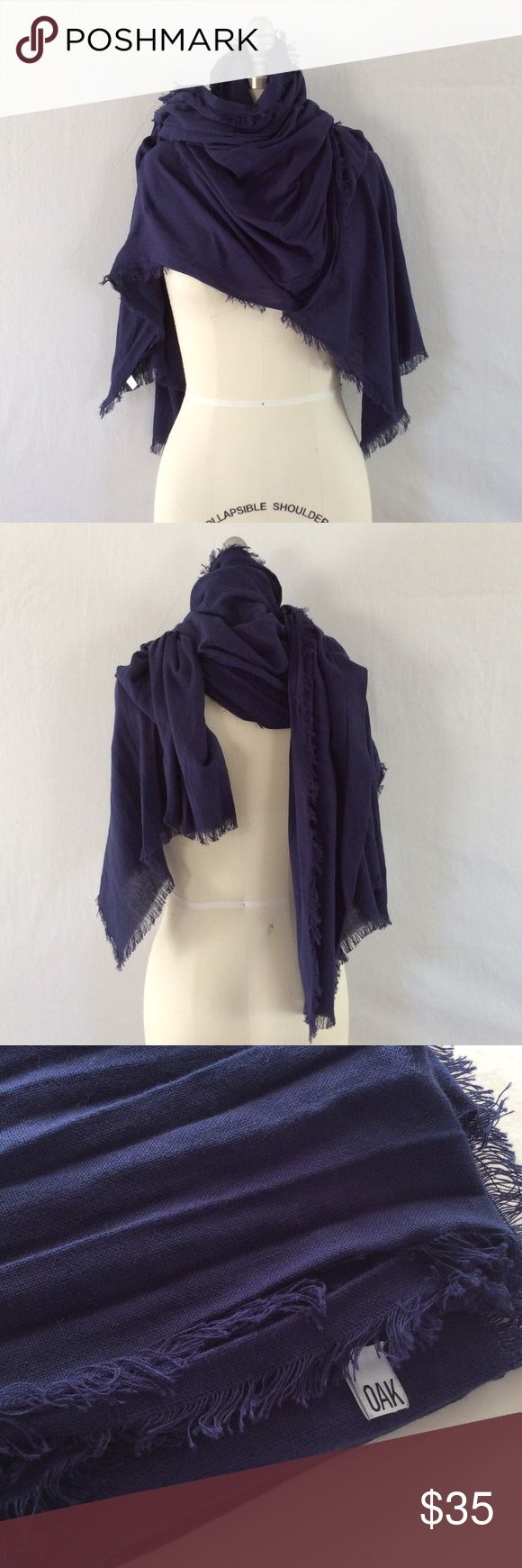"Giant Blanket Scarf! This giant blanket scarf from Oak NYC is 40""x80"" providing all the coziness you need this winter! A beautiful deep navy color, this scarf was originally $100! Accessories Scarves & Wraps"