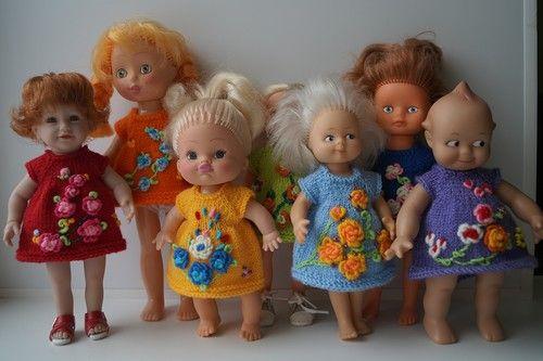 Нарядные радужные платьица для малюток Кьюпи Kewpie dolls ростом 20 см. 3 партия. / Одежда для кукол / Шопик. Продать купить куклу / Бэйбики. Куклы фото. Одежда для кукол