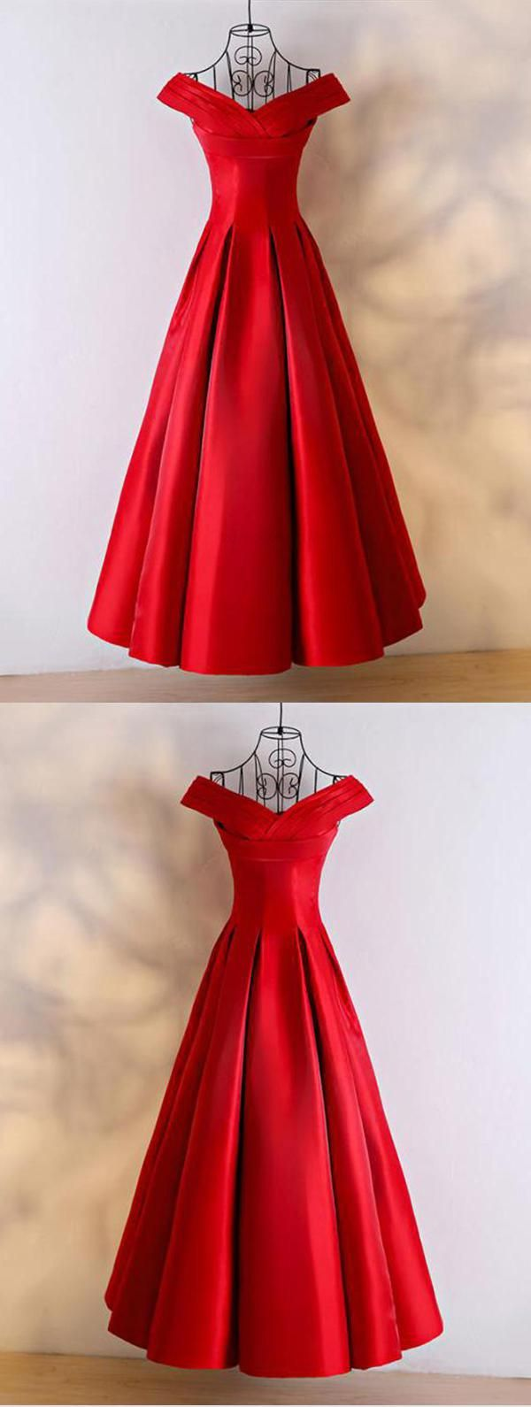 Hot sale vogue red red satin off shoulder long customize sweet