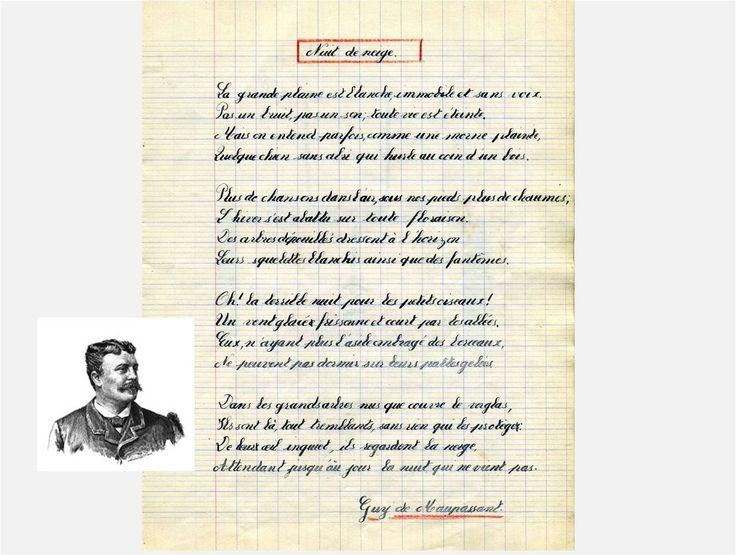 Nuit de neige poème de Guy de Maupassant