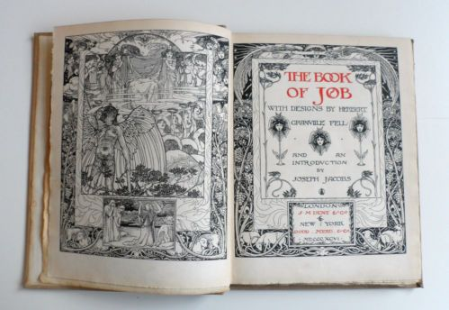 Granville fell 1st edition 1896 book of job arts and for Arts and craft jobs