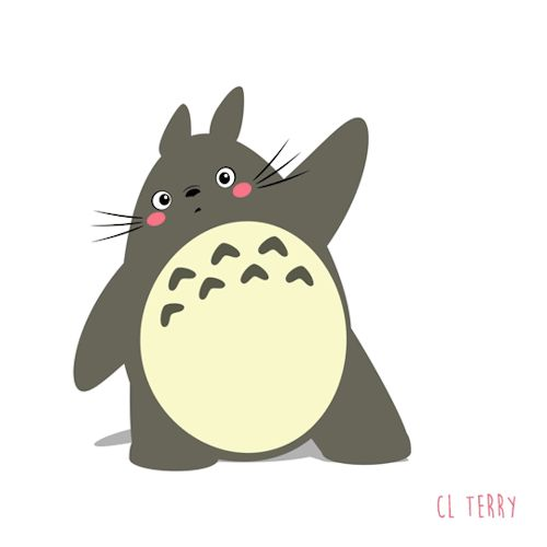 Adorable Totoro gifs from australian animator - Album on Imgur