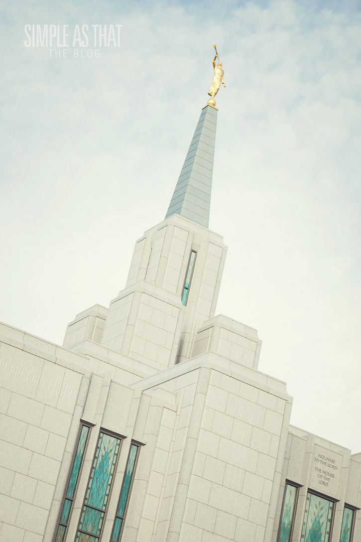 simple as that: Calgary Alberta LDS Temple
