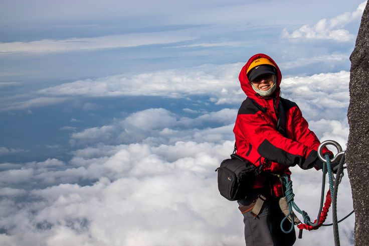 Feeling happy, above the clouds, the fear is gone and simply enjoying the way down