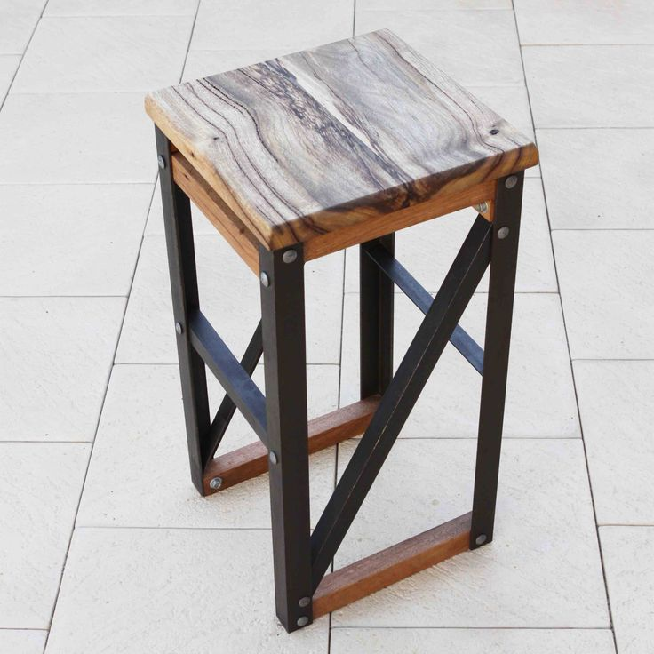Lark & Owl - Marri and Steel Bar Stool