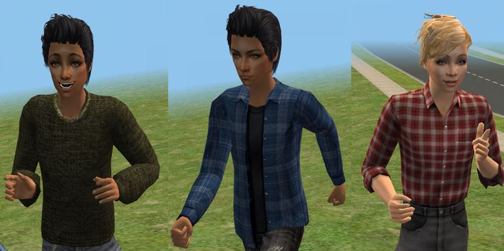 ModTheSims - 17 New Shirts for Teen Males