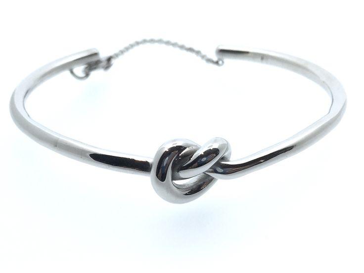 Knot silver bracelet. Bracciale con nodo in argento 925.