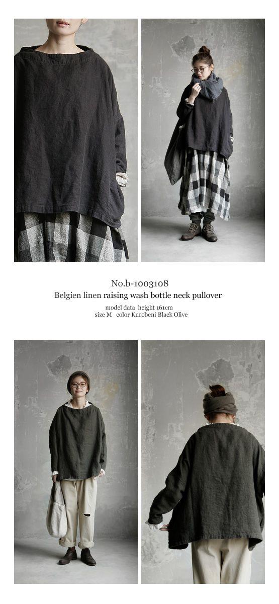 BerryStyle | 라쿠텐 일본: Joie de Vivre 벨기에 린 넨 양면 기 모 워시 병목 스웨터