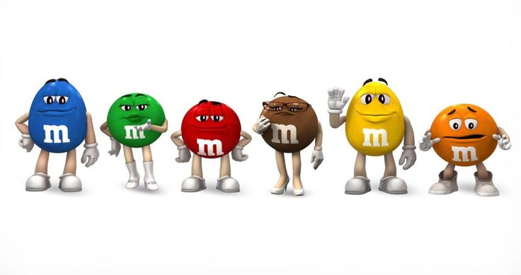 <3 I just love the M & M characters sooo much <3