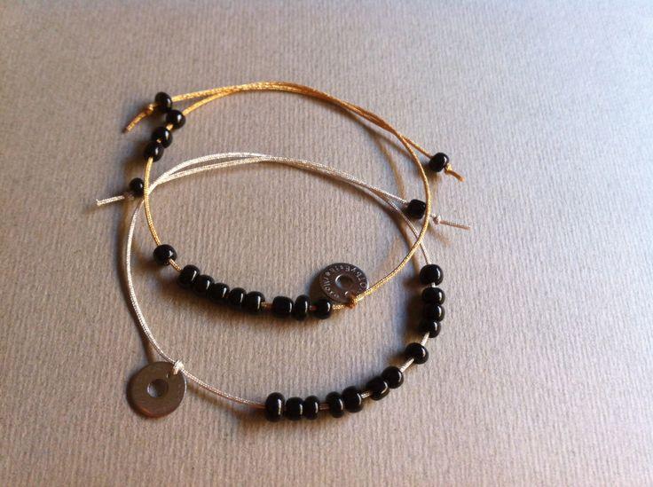 ref. FIRMA pulsera atada plata y dorada. #jewelry #joyas #design #diseño #fashion #style #street #notbyesthermora @EstherMora / NOT