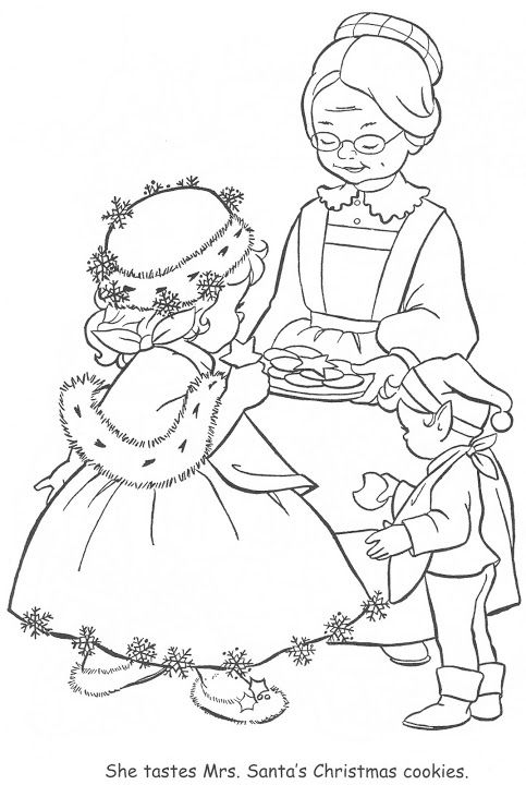 little miss christmas coloring book