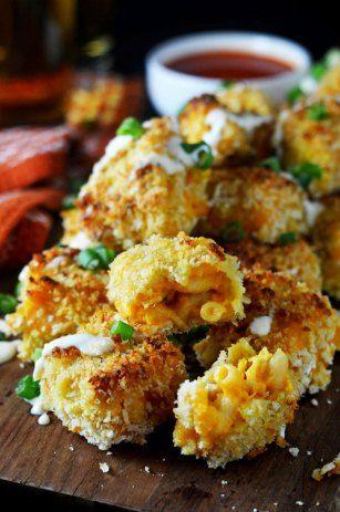 Buffalo Chicken Mac & Cheese Bites | Recipe | Cheese Bites, Mac Cheese ...