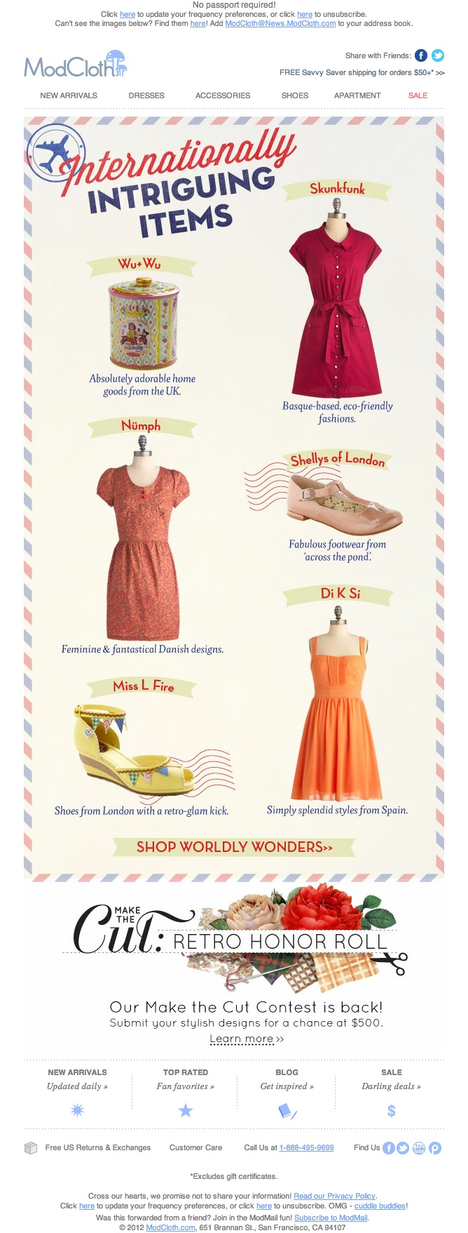 #newsletter #design #fashion http://www.modcloth.com/