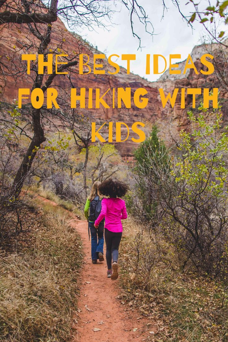 A great list and fun activities for hiking with kids!