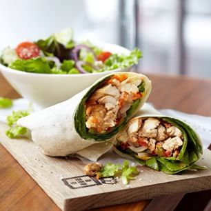 Healthy food at Vida e Caffe includes loads of healthy treats, muffins, wraps and breakfast treats with promotions in certain days of the week.
