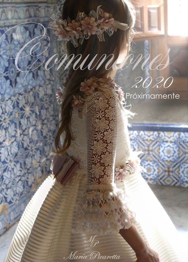 Vestidos De Comunión Maria Picaretta Spain En 2020 Vestidos De Comunión Vestidos Para Primera Comunion Vestidos Niñas Primera Comunion