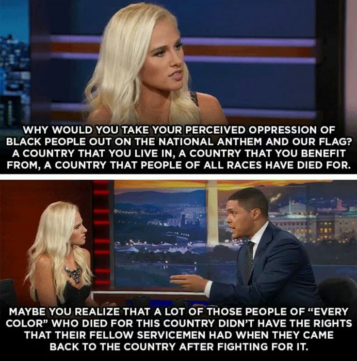Trevor Noah debates the ignorant racist Tomi Lahren on the Daily Show  My opinion. Tomi Lahren is very pretty but she needs to stop commenting on other people's business.