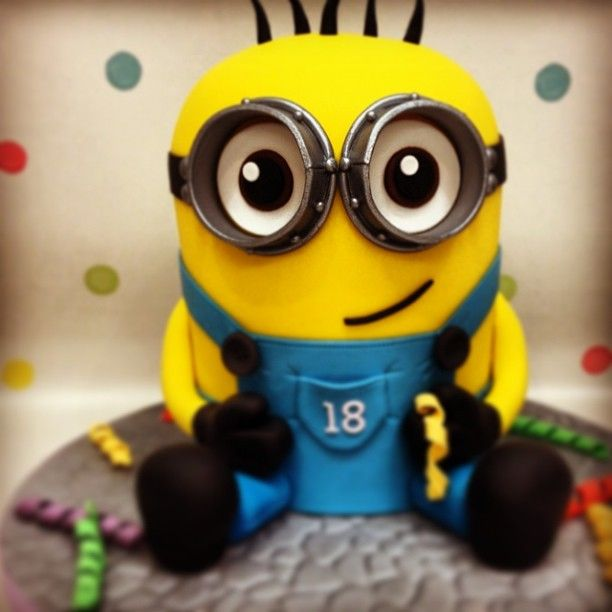 Minion!!!! - I loved creating this cake!!! I hadnt done a carved cake in quite a while so it had me a little nervous but loved how it turned out and thankfully so did my customer xx