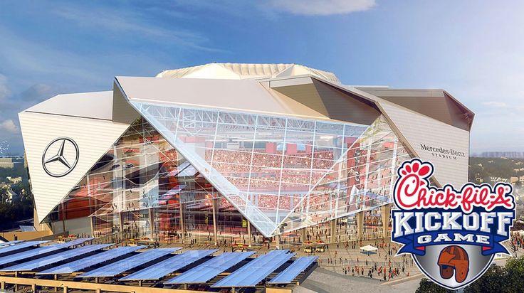 Alabama vs Florida State to kick-off the season in Atlanta in the new Mercedes Benz Stadium. Chick-fil-a KickOff Game #Alabama #RollTide #Bama #BuiltByBama #RTR #CrimsonTide #RammerJammer