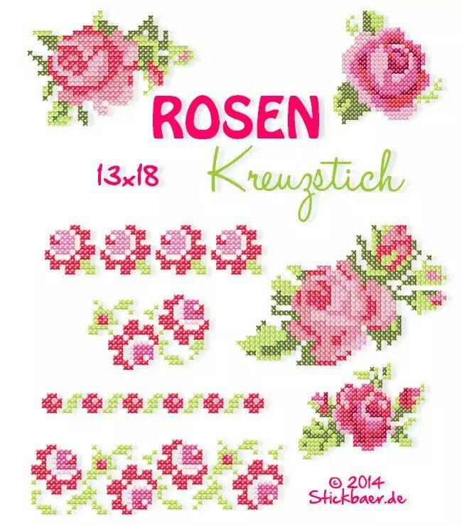 Rosen kreuzstich