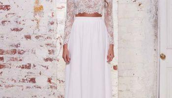 32 Modelos de vestidos de noiva cropped - duas peças.