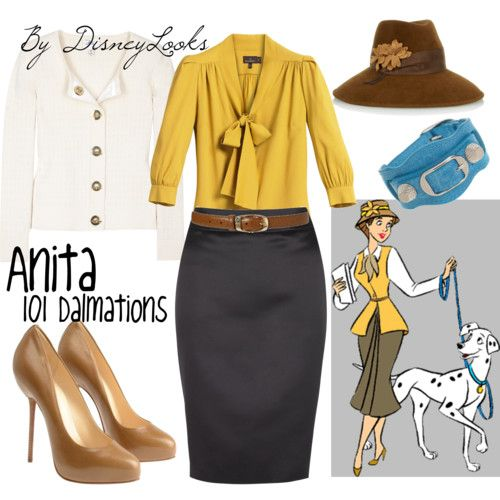 Okay, so maybe I couldn't pull off the mustard hue of this blouse, but I love the idea of using vintage Disney characters for outfit inspiration.