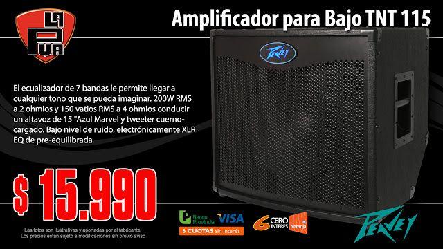 La Púa San Miguel: Amplificador para Bajo PEAVEY TNT 115