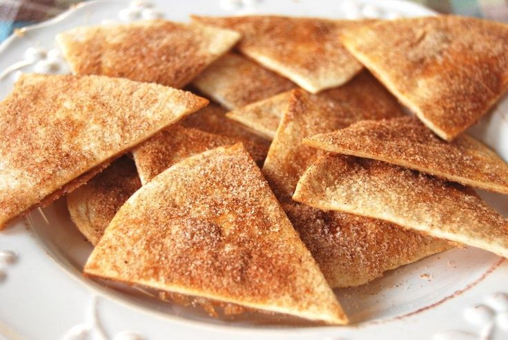 Baked Cinnamon Sugar Chips....SO glad to find the recipe!  My 12 year old LOVES these!!!! These are to go with fruit salsa
